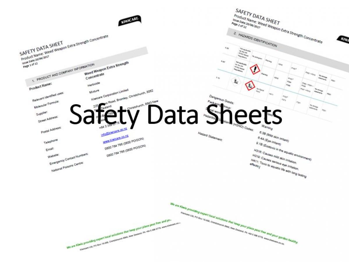 Pest Control Product Safety Data Sheets